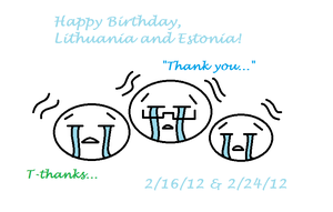 Happy Birthday Lithuania and Estonia by Guitarrox5138