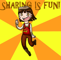 Sharing is fun by Demon-Dolphin