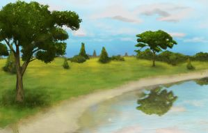 Landscape - Speedpainting by xGreatCthulhux