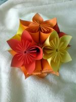Kusudama flower ball by yamixhikari
