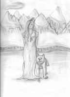 Lady and Canine by Myscal