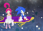 Sonic and Shahra in Aladdin by A-Mitsuki