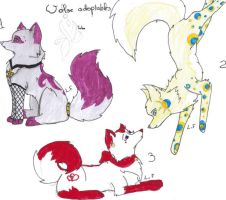 Wolves adoptables_ ALL TAKEN by lfraysse