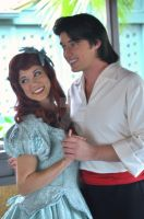 Ariel and Eric's Smiles by BellesAngel