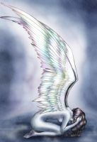 criying angel by driany