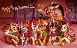 Happy Hearts Warming Eve - 2014 by InuHoshi-to-DarkPen