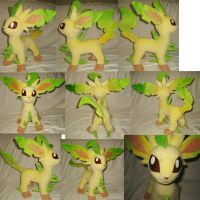 Leafeon plushie by Rens-twin