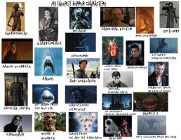 Favorite Horror Characters by cursedironfist7
