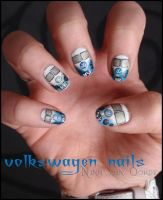 Volkswagen nails by Ninails