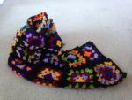 Crochet granny square scarf. by CreaturesofNat
