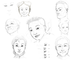 Asian Features Practise by toziren
