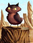 Owl Creature #4 by Dreamprotected