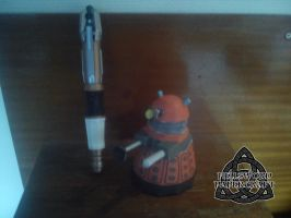 Doctor Who Chibi Dalek Papercraft Built by HellswordPapercraft