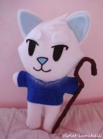 Rise of the Guardians Jack Frost Wolf Plushie by VioletLunchell