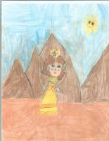 Princess Daisy walking in Sarasaland by PrincessDaisyRocks10
