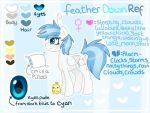 Feather Down Reference by StripeySocks27