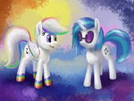 Dubstep Freeze and Vinyl Scratch by Fahu
