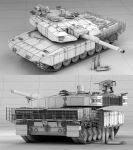 Leopard 2 MBT Revolution Wireframes by Siregar3D