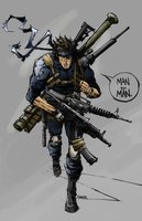 Solid Snake Arsenal by Zotty