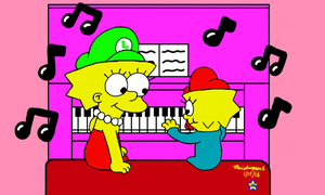 Maggie Playing Piano by MarioSimpson1