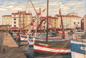 Boats in Saint Tropez, France by Built4ever