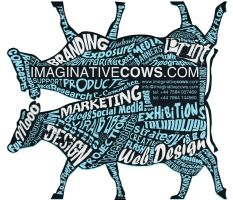 Imaginative Cows Die Cut Flyer by squiffythewombat