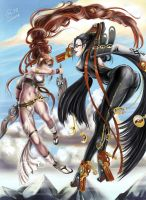 Nariko vs Bayonetta by Autumn-Sacura