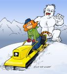Pursued By a Yeti by kurtoons