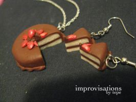 Strawberry-Chocolate Cake Set by Merice