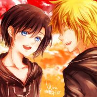 KH: Roxas and Xion by yoruven