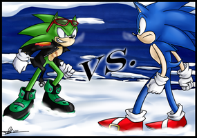 Scourge Vs. Sonic by ProSonic