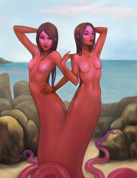 Sea Sisters by stringmouse