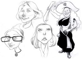 Deviant Caricatures 2 by borogove13