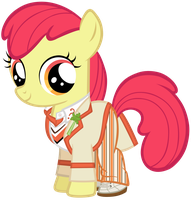 Apple Bloom as the 5th Doctor by SilverMapWolf