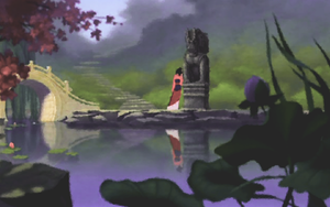 Mulan at the River, 1280x800 by abiogenic