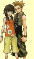 Olette and Hayner by helferelfe