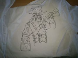 Singed on a labcoat by molegato