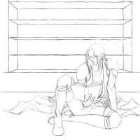 Sephiroth - The Tower lineart by AerithReborn