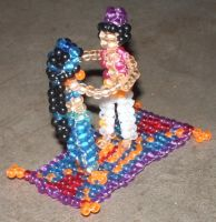 Beaded Aladdin and Jasmine by Anabiyeni