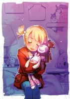 Girl and a Voodoo Doll by kissai
