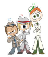 PS: Humanized Detectives by ZootyCutie