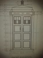 Tardis (Front) Blueprint by UncleGargy