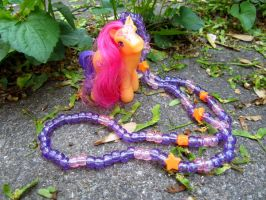 MLP Scootaloo Necklace by cadillacphunque