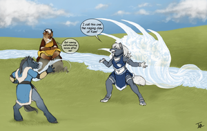 Battle of the Loincloths by TamHorse