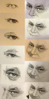 Process of drawing Jack Nicolson - Part 1 by chaseroflight