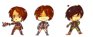 Chibi Dead Space: Team 1 by SheriffGraham
