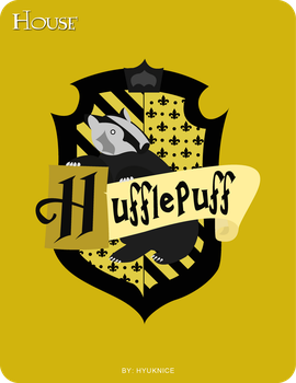 HP Cards- Hufflepuff crest by Hyuknice