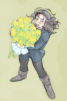 Kili with Flowers by h-muroto