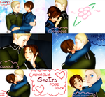 MMD GerIta Pose Pack by Italy--Feliciano