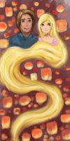 Flynn and Rapunzel by ReoNym